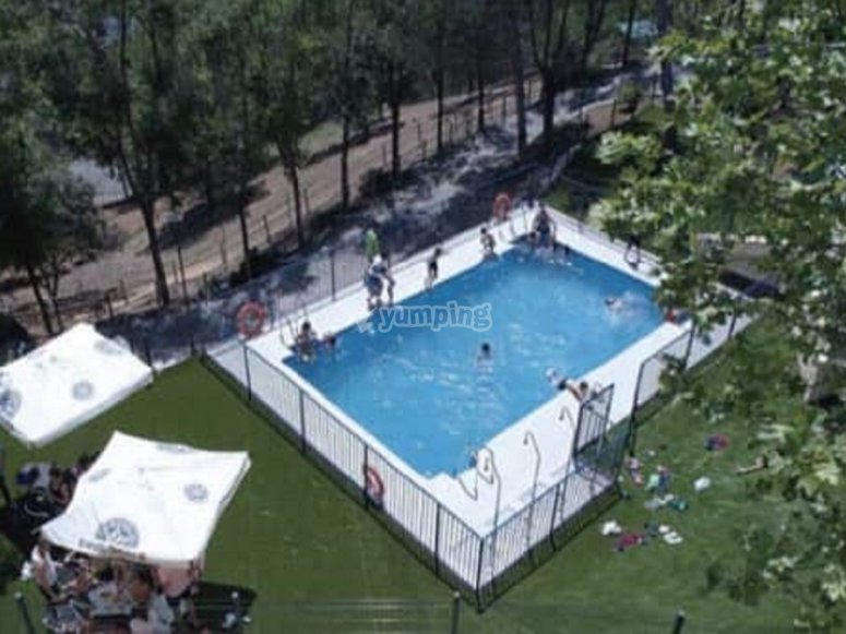 Aerial image of the pool