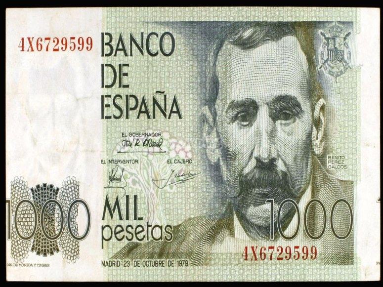 Billete de mil pesetas Galdós