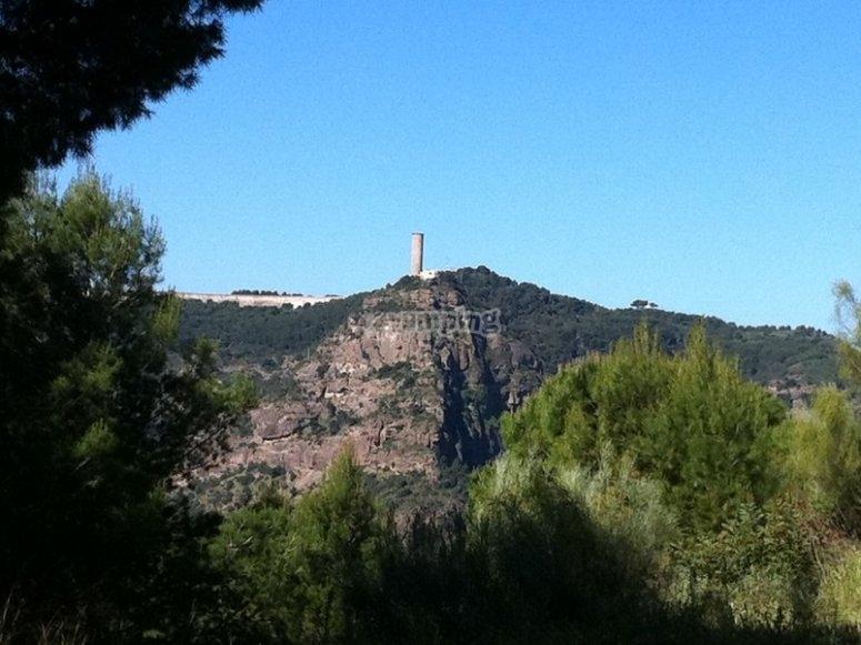 Atalaya árabe en la antigua fortaleza de Omar ibn Hafsún