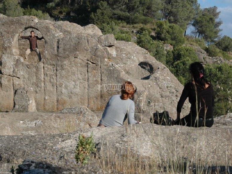 Durante la visita a las ruinas de Bobastro, lugar incluido en nuestra ruta