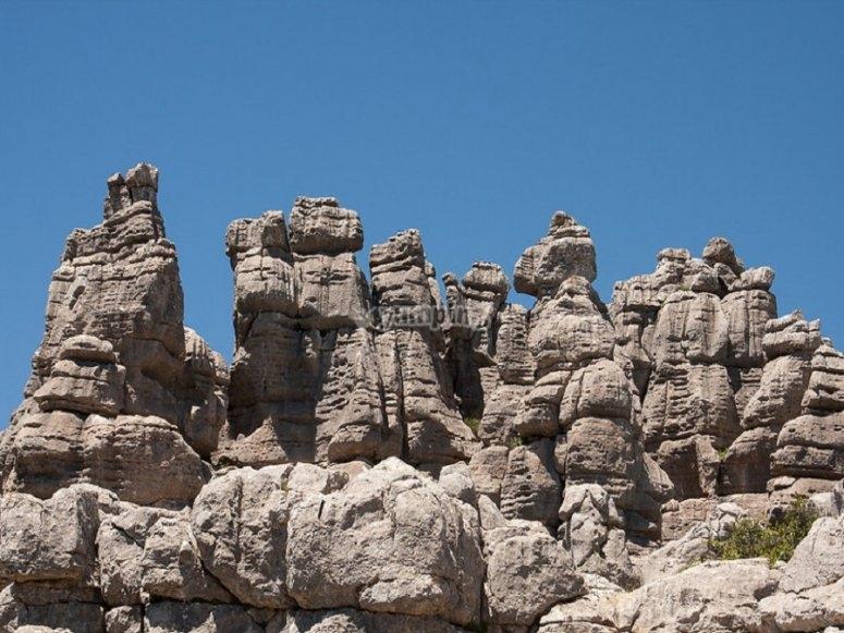 Relieve escarpado de El Torcal, declarado patrimonio de la Humanidad