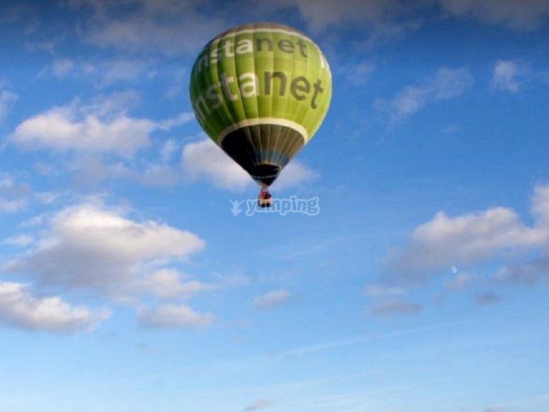 乘坐浪漫气球时