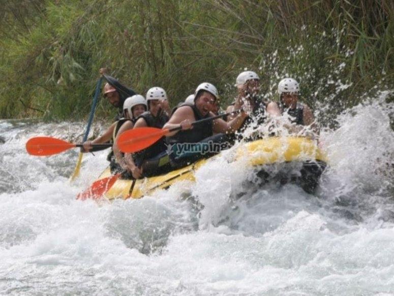 Emoción durante la actividad en el río