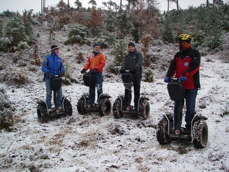 Ruta en segway sobre nieve