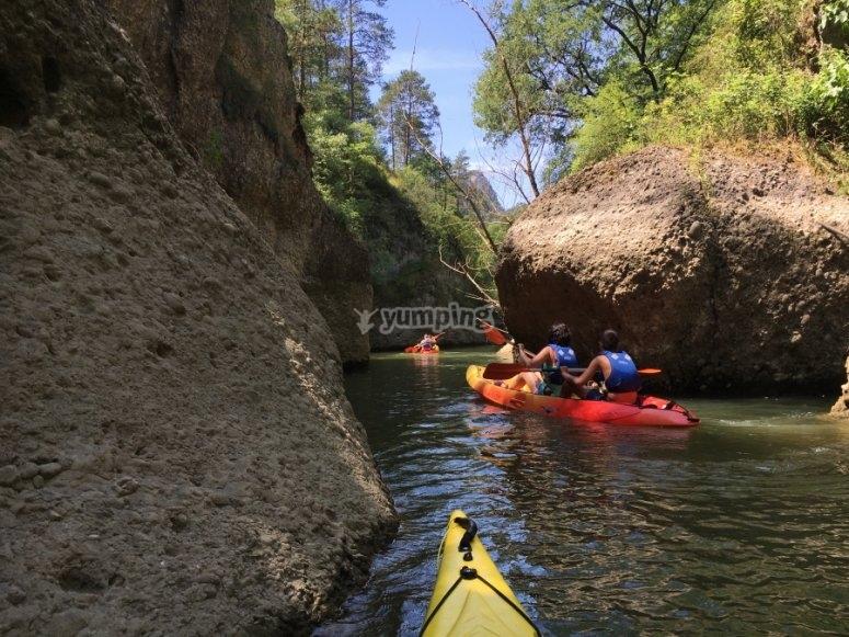 Giro in canoa attraverso la palude Baells
