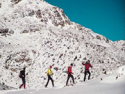 Ruta raquetas de nieve Circo de Peñalara 4h niños