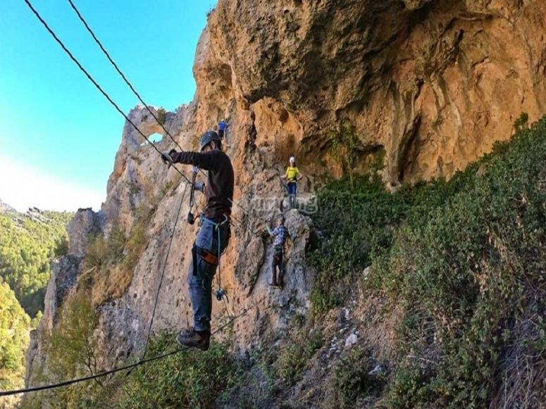 Vía ferrata en Villalba de la Sierra