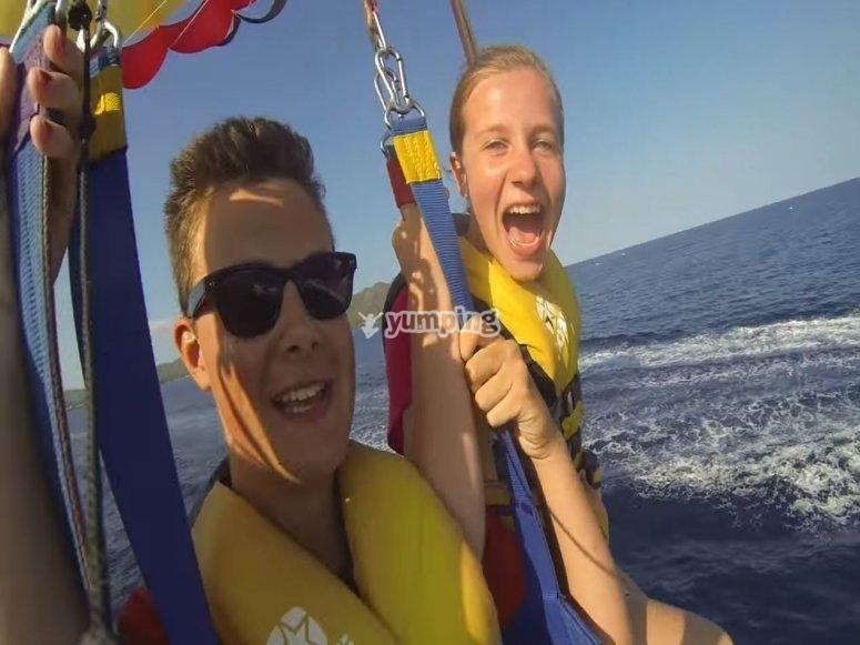 Maximum emotion in parasailing