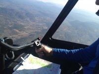 Siguiendo la ruta aerea en helicoptero