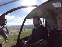 Tomando el control de helicoptero