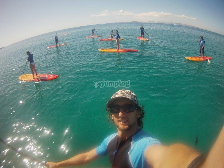 Excursión de paddle surf para grupos
