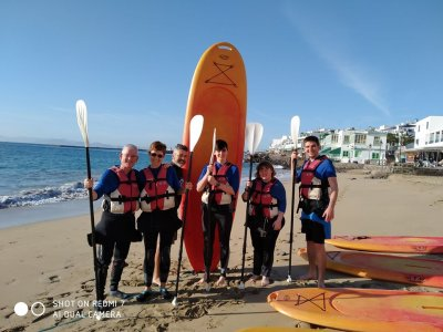 Tour de paddle surf en Playa Blanca + snorkel