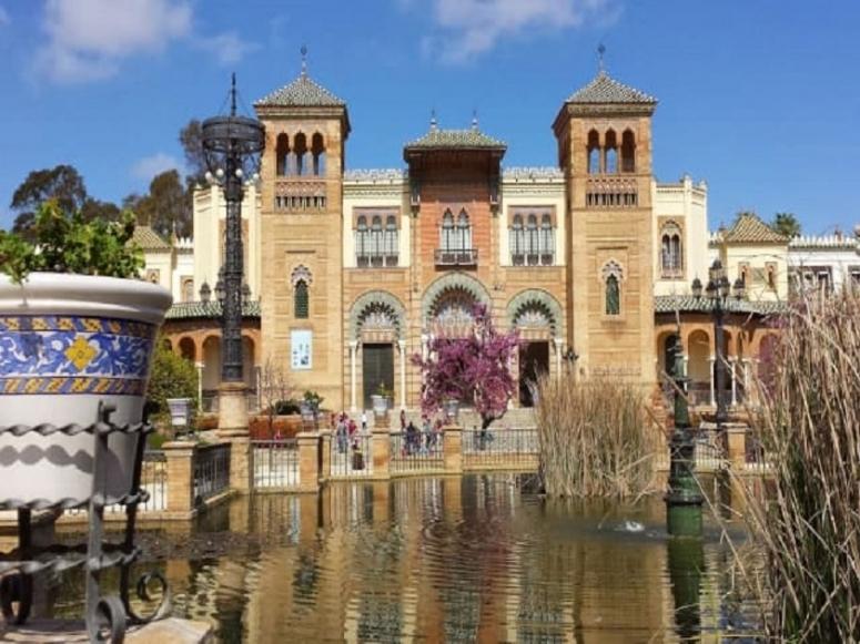 Vistas de Sevilla desde la Plaza de España