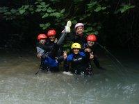 En el río durante el descenso