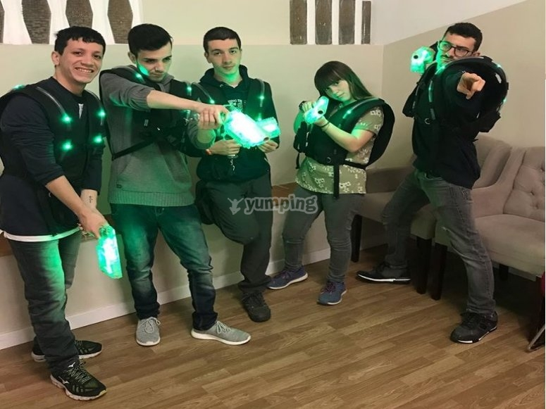 Jugadores de la batalla laser