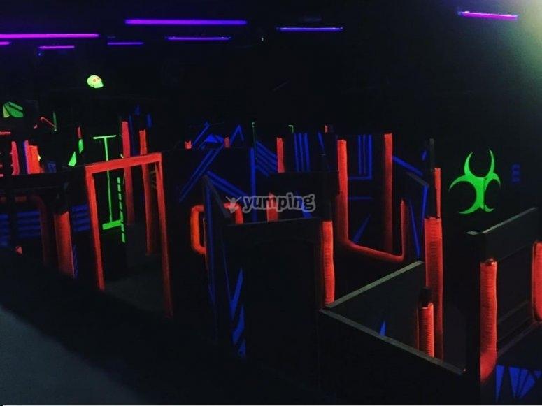 Laberinto para la batalla laser