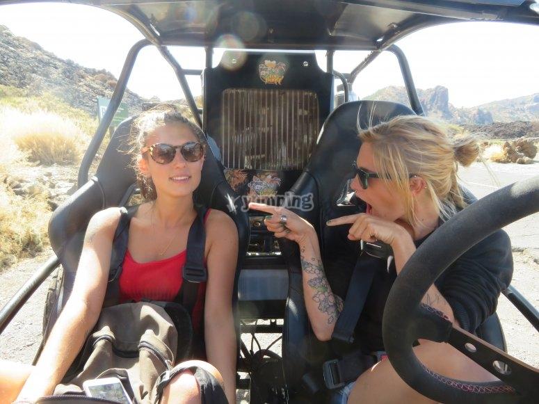 Paseo en buggy biplaza hacia el Teide