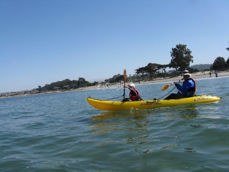 Paseo en kayak para dos en Playa Blanca