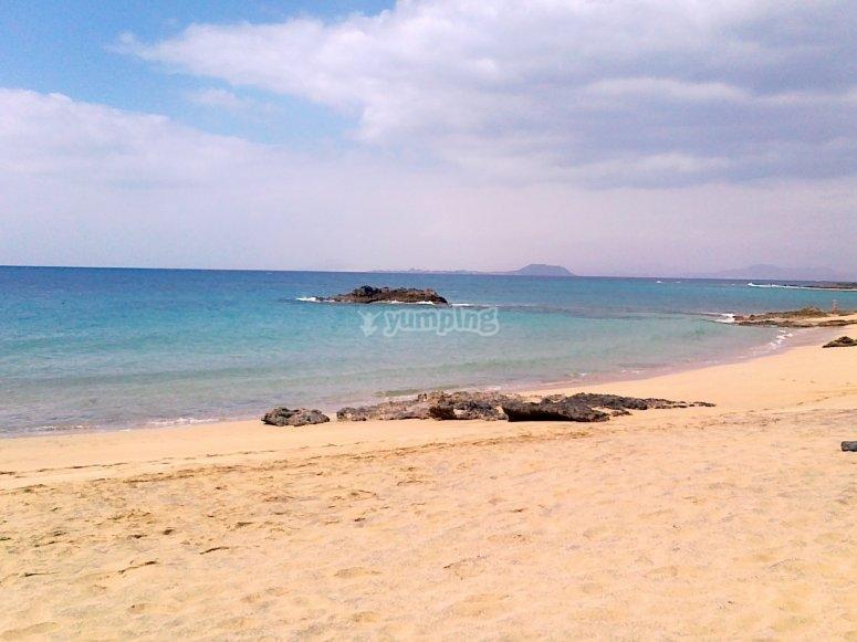 Salida en kayak por playa de Lanzarote
