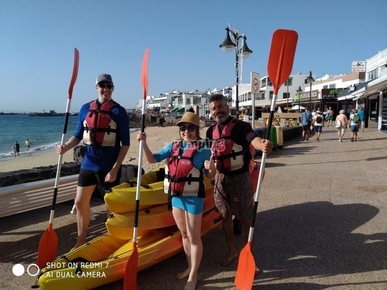 Excursión en kayak por Playa Blanca