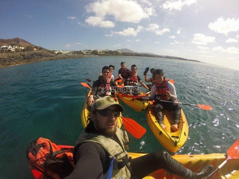 Tour en kayak por Lanzarote
