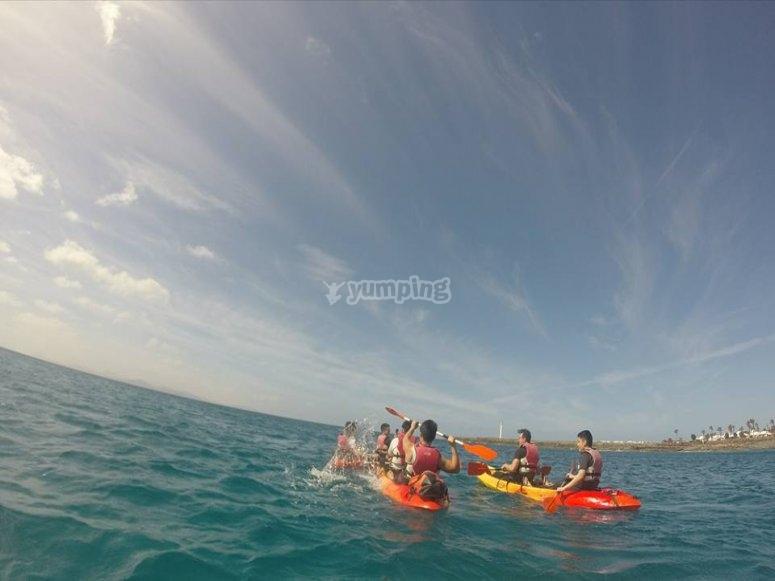 Tour en kayak por la playa de Timanfaya