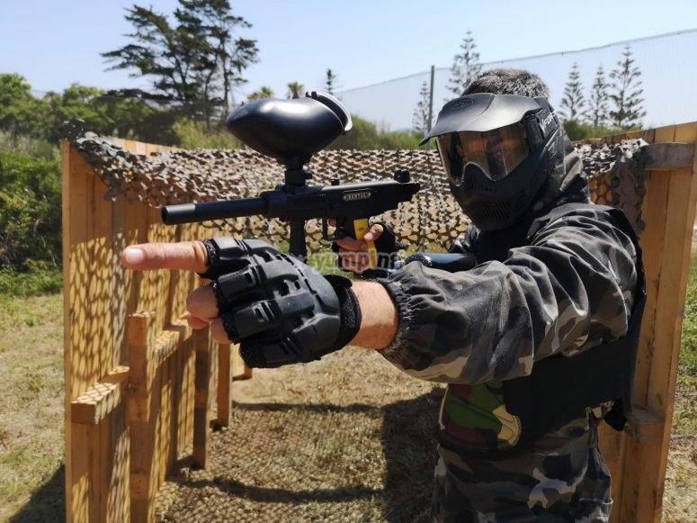 Paintball game 100 balls in Getares