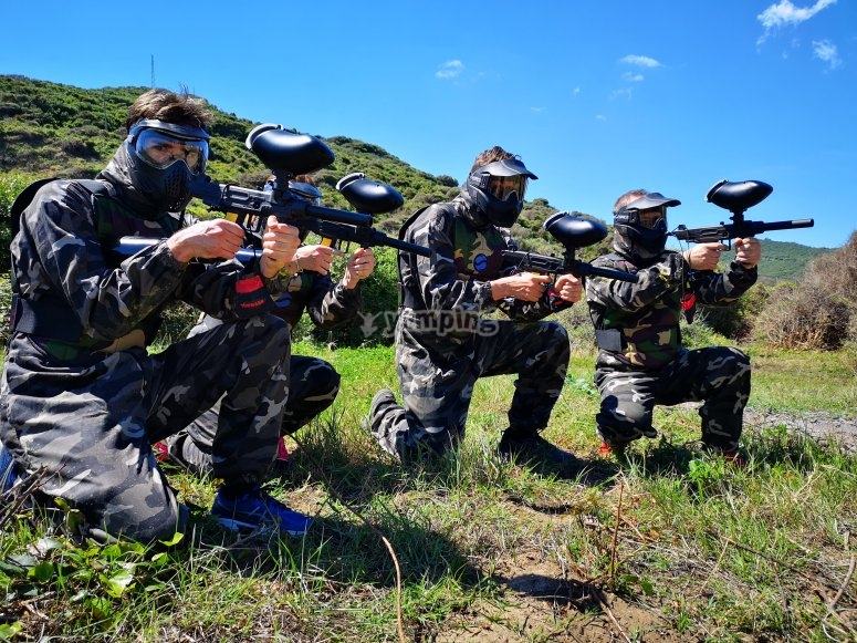Paintball game in Getares beach