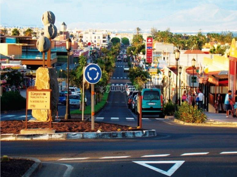 Viale principale di Corralejo
