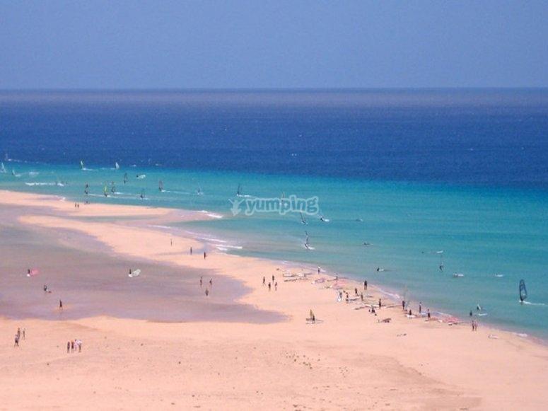 La spiaggia di Sotavento sarà una di quelle che visiteremo durante il nostro tour