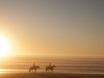 Tramonto romantico dell'itinerario del cavallo Zahara Atunes