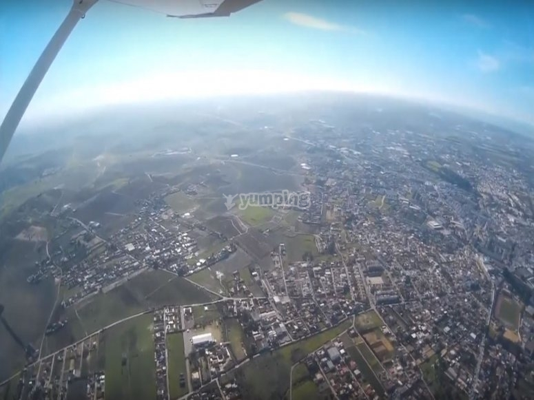 Vista panoramica dall'aereo