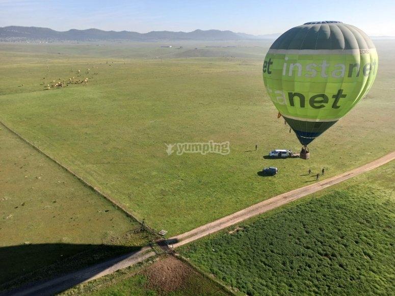 Giro in mongolfiera attraverso i campi della Castilla