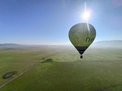 Volo in mongolfiera attraverso Alcañiz e degustazione di 1 ora
