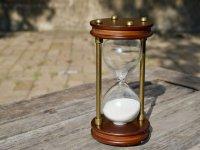 Tiempo agotado en el reloj de arena