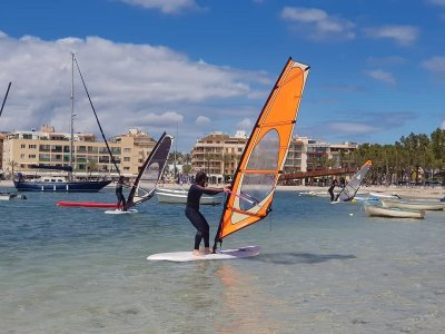 Alcudia windsurfing initiation or improvement