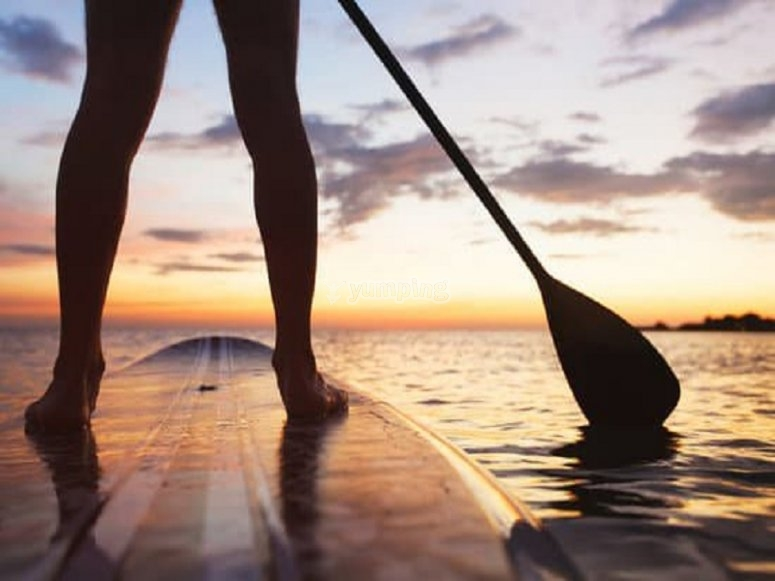 Paddle surf al tramonto ad Alcudia