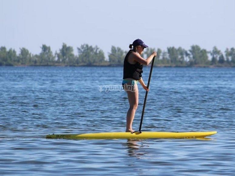 Noleggia l'attrezzatura da paddle surf