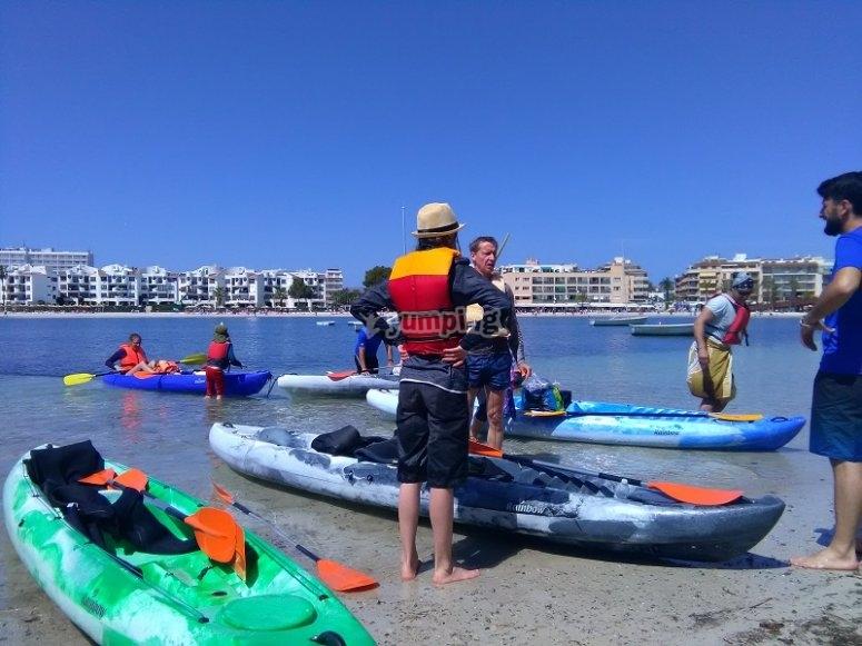 Antes de la experiencia en kayak