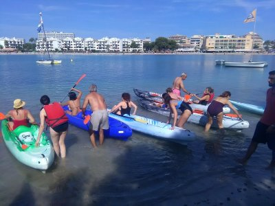 Double kayak rental in Alcúdia 1 hour