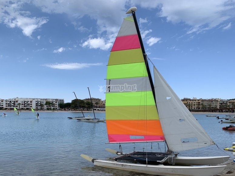 Learning to sail in Alcudia