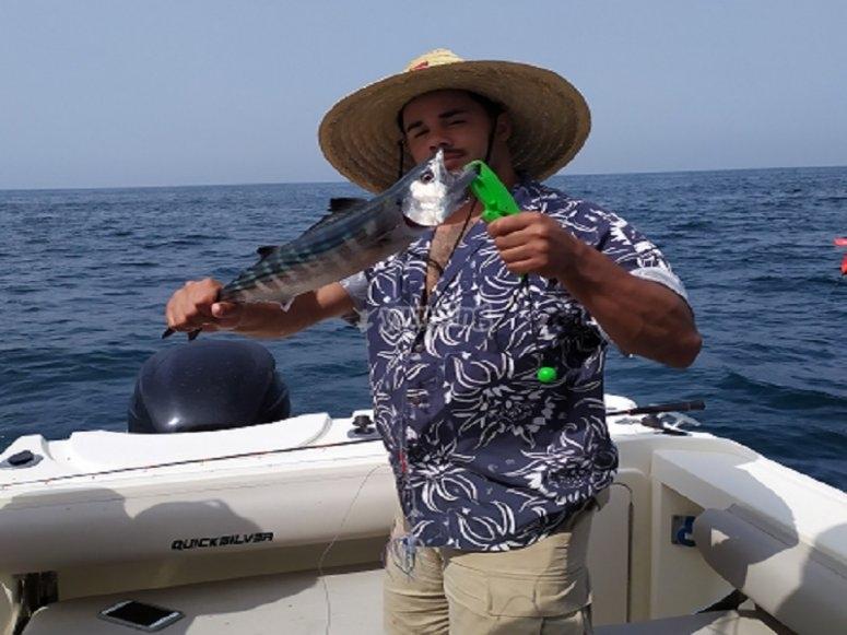 La pesca al curricán es muy tradicional en la bahía