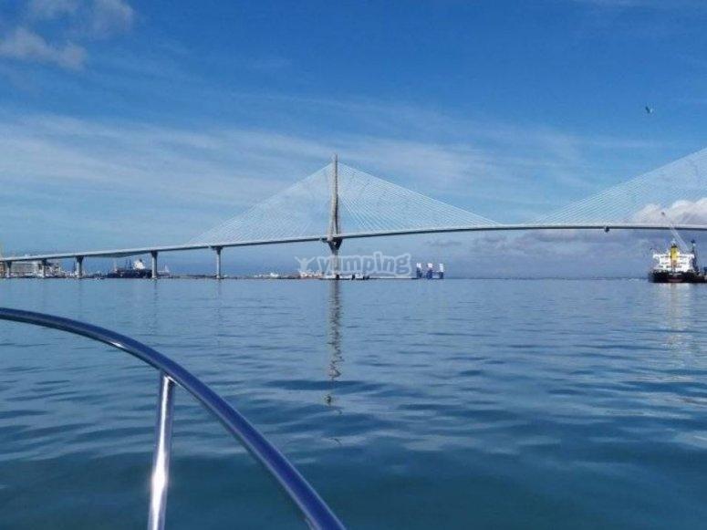 Imagen de la bahía desde el barco
