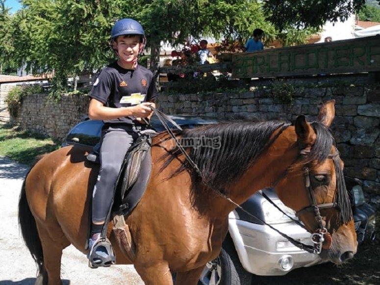 在该地区的骑马期间