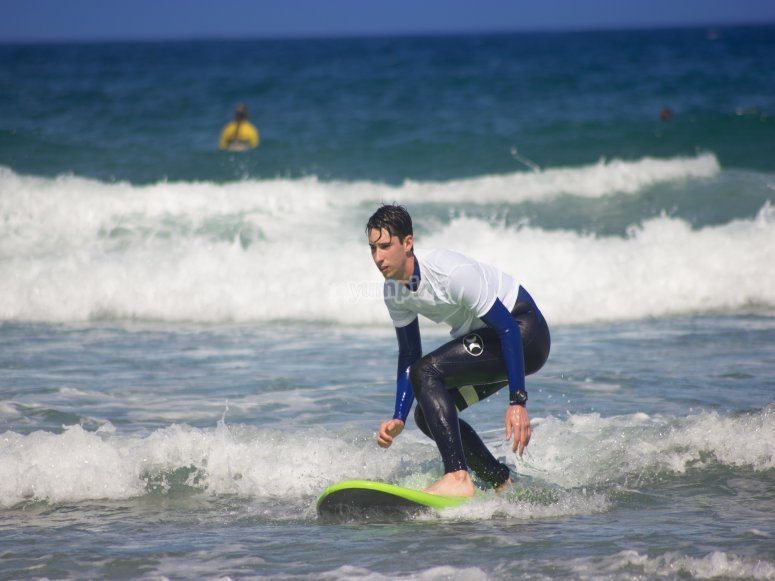 Lezioni di surf per principianti