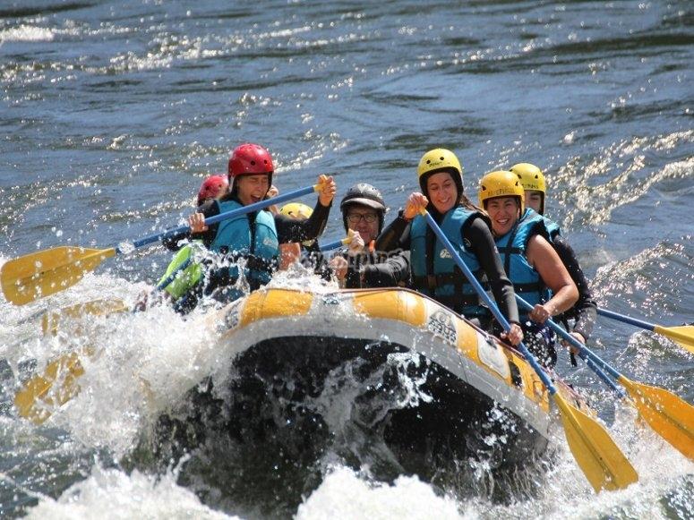 Durante la discesa del fiume Miño