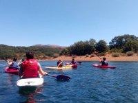 El equipo compartiendo este deporte acuático