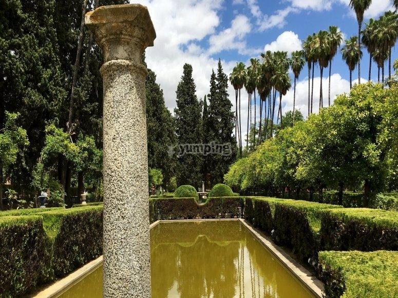 Jardines del Alcázar sevillano