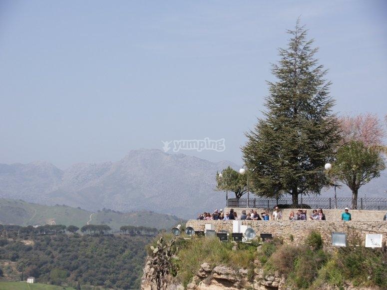 Sykline de montañas en Ronda