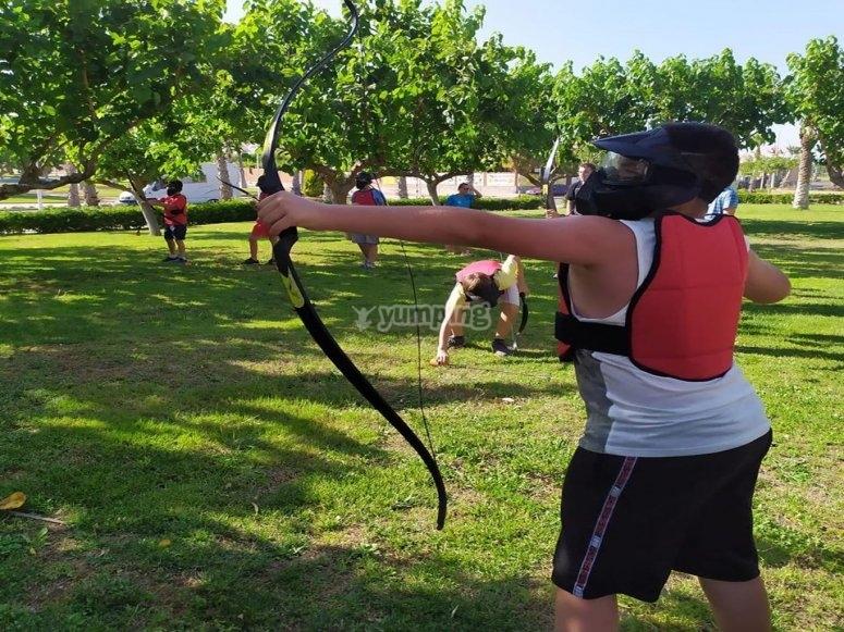 Actividad de tiro con arco